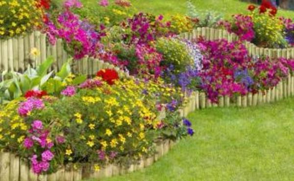 palisaden holz beeteinfassung gartengestaltung in lampertheim, Gartenarbeit ideen