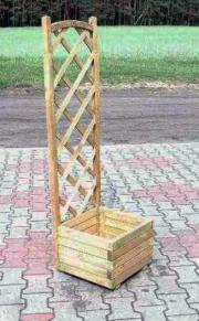 Pflanzkübel BASIC mit Rankgitter