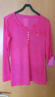 pink/rotes Langarmshirt