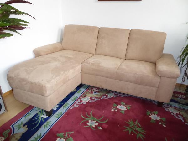 Polstermöbel Couch 2-Sitzer mit Ottomane + Hocker (Bezug ...