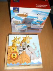 Puzzlewürfel 6 verschiedene Tiermotive TCHIBO