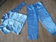 Pyjama Schlafanzug Gr 128 Blau