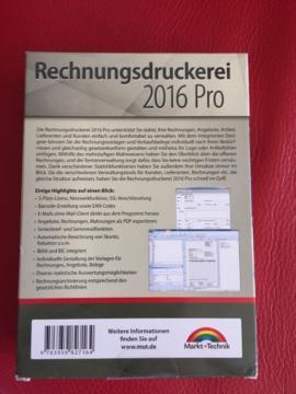 Software: Anwendungen, Tools - Rechnungsdruckerei 2016 neu versiegelt