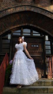 romantisches Brautkleid Hippie-