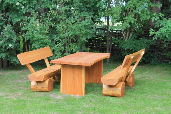 Gartenmöbel aus lärchenholz  Rustikale Gartenmöbel Masiv Lärche ,Baumbank, Parkbank, 180 cm in ...