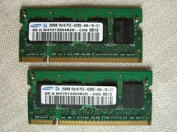 SAMSUNG 2x 256 MB RAM