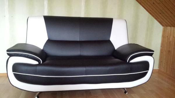 schickes, modernes 2er sofa schwarz / weiß in wanzleben - polster ... - Schwarz Wei Sofa