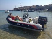 Schlauchboot, Festrumpfschlauchboot, Anhänger,