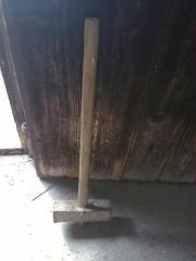 Schlegel, mit Holzstiel,