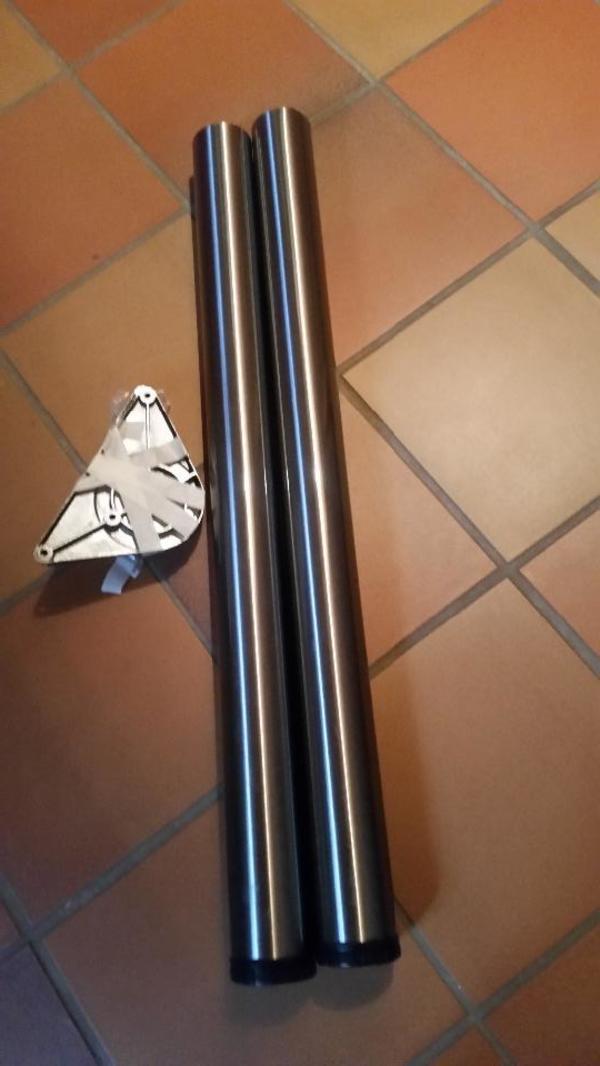 Schreibtischfüße 2 Stück - Nürnberg Röthenbach B Schweinau - neuwertig ! Länge der Füße 76 cm + Halterung 2 Stück - Nürnberg Röthenbach B Schweinau