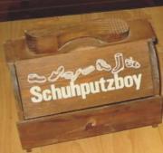 Schuhputzboy Holz, alt,