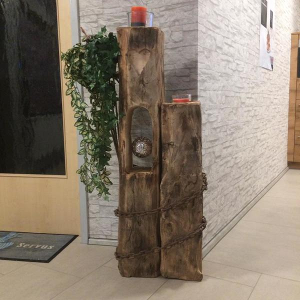 Skulptur aus altholz handgehauen in obertaufkirchen - Altholz look selber machen ...