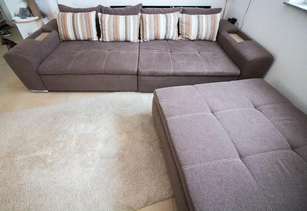 Megasofa sessel  Sofa Megasofa Sitzlandschaft Couch + Hocker in Leonberg - Polster ...