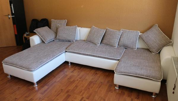 Sofa mit bettfunktion smart wohnlandschaft boriana in for Sofa mit bettfunktion