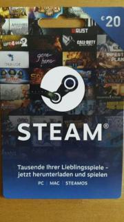 Steam Aufladkarte
