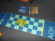 Strandmatten mit Schachspiel aufblasbarem Kissen