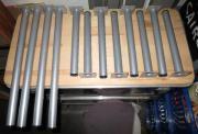 Stützen Möbelfüße Tischbeine Silberfarbene Metall-Möbelfüsse
