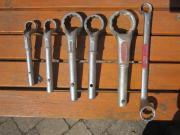 verkaufe 6 gekröpfte Ringschlüssel Siehe