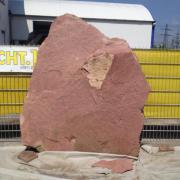 Verschiedene Findling Granit