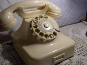 W48 Telefon Elfenbeinfarben funktionsfähig