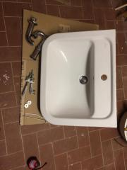 Waschbecken 61cm breit