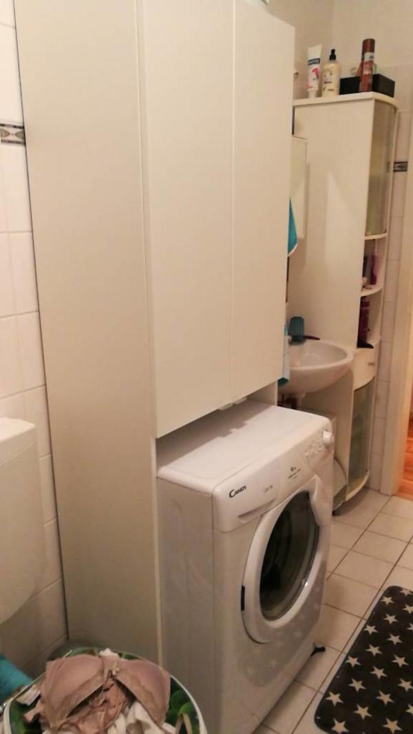 waschmaschinen schrank waschmaschinenschrank waschmaschinen berbauschrank bad schrank ebay. Black Bedroom Furniture Sets. Home Design Ideas