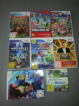 Wii - Wii Konsole 8 Spiele Balanceboard