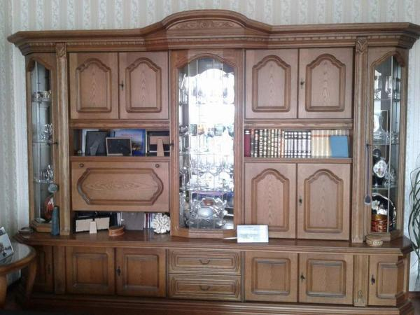 wohnzimmerschrank eiche rustikal in mannheim. Black Bedroom Furniture Sets. Home Design Ideas