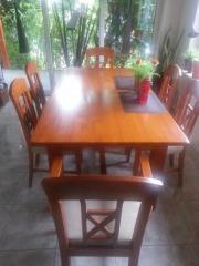 Wunderschöne Tischgruppe Pinie vollmassiv